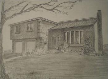 House In Graphite by Joseph Zubrovich