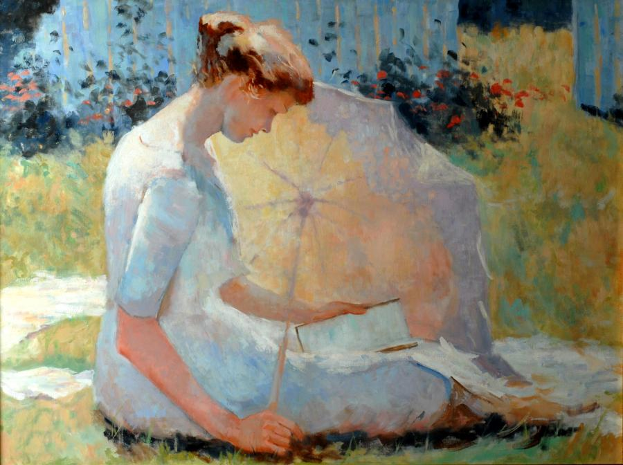 After Frank Benson, The Reader.