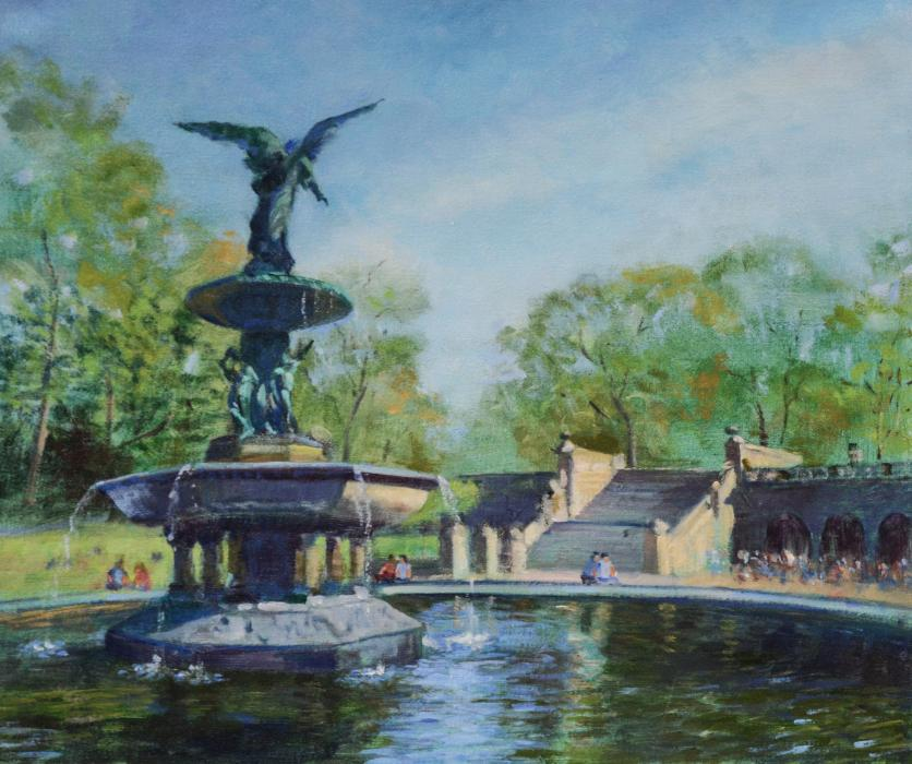 Bethesda Fountain, Central Park, New York.