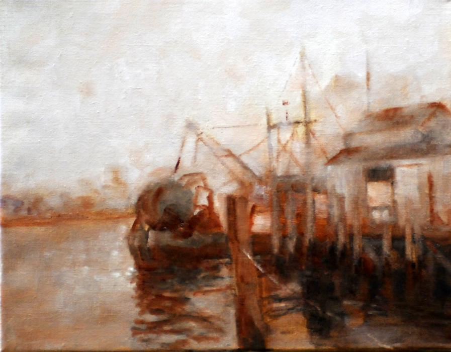 Gosman's Dock, Montauk NY. <p><span style=`font-size: large;`><strong><em>SOLD</em></strong></span></p>