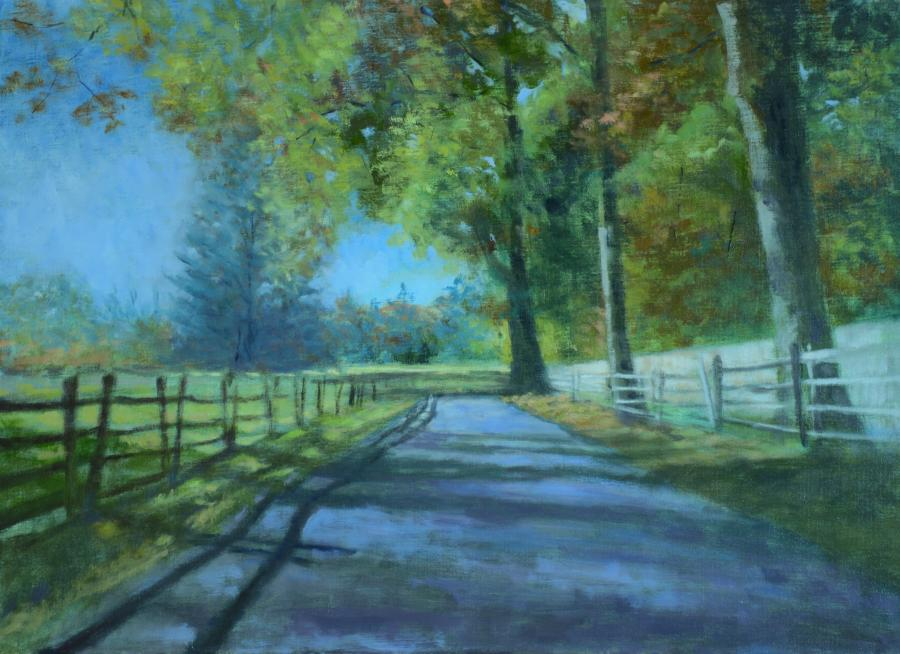 Sagamore Hill. <p>An original oil painting of one of the many paths at Sagamore Hill, the home of the 26th&nbsp;<a title=`President of the United States` href=`https://en.wikipedia.org/wiki/President_of_the_United_States`>President of the United States</a>,&nbsp;<a title=`Theodore Roosevelt` href=`https://en.wikipedia.org/wiki/Theodore_Roosevelt`>Theodore Roosevelt</a>.&nbsp; Located in&nbsp;<a title=`Cove Neck, New York` href=`https://en.wikipedia.org/wiki/Cove_Neck,_New_York`>Cove Neck, New York</a>, on the North Shore of&nbsp;<a title=`Long Island` href=`https://en.wikipedia.org/wiki/Long_Island`>Long Island</a>,<span style=`font-size: 8.33333px;`>&nbsp;it</span>&nbsp;is now the Sagamore Hill National Historic Site.</p>