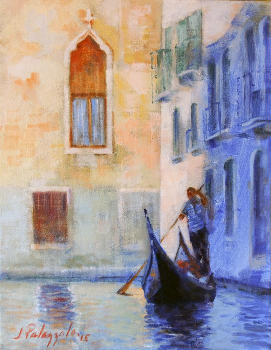 Twilight Ride in Venice #2. <p><strong><em><span style=`font-size: medium;`>SOLD</span></em></strong></p>