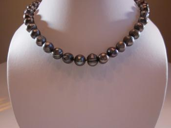 Grey Pearl Necklace by Sold Items
