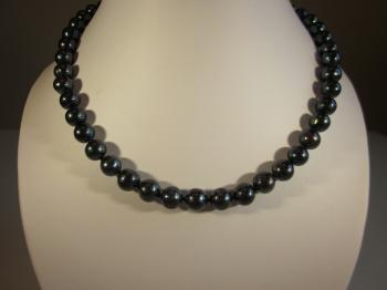 Black Peacock Freshwater Cultured Pearl Necklace by Necklaces
