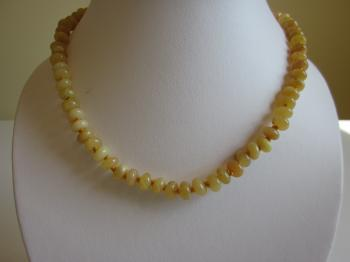 Yellow Jade Necklace by Necklaces