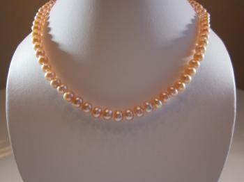 Pink Cultured Freshwater Pearl Necklace by Necklaces