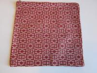 Red & Taupe Oriental Motif Fabric Lingerie Bag