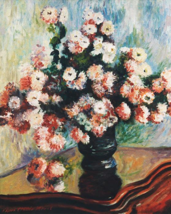 Chrysanthemums   apres Claude Monet.