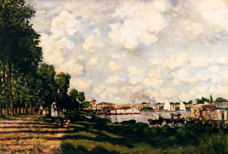 River Basin at Argenteuil apres Claude Monet.