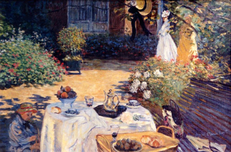 The Luncheon   apres Claude Monet.