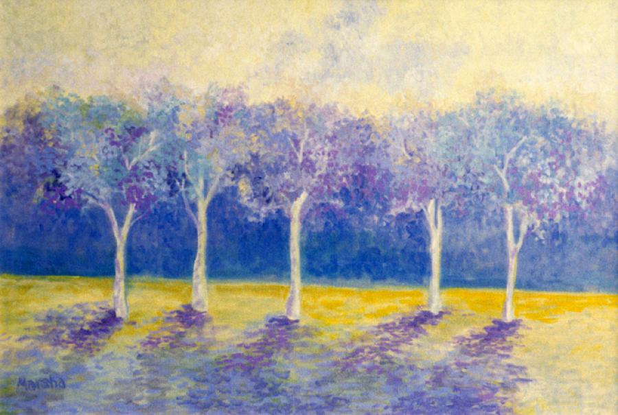 Purple Trees.