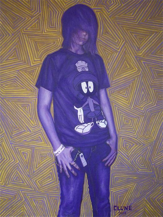 Girl In Dioxazine Purple. 30` by 40` Original Currently Unavailable.
