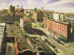 View From North Williamsburg oil on linen	29x39 - Robert Feinland