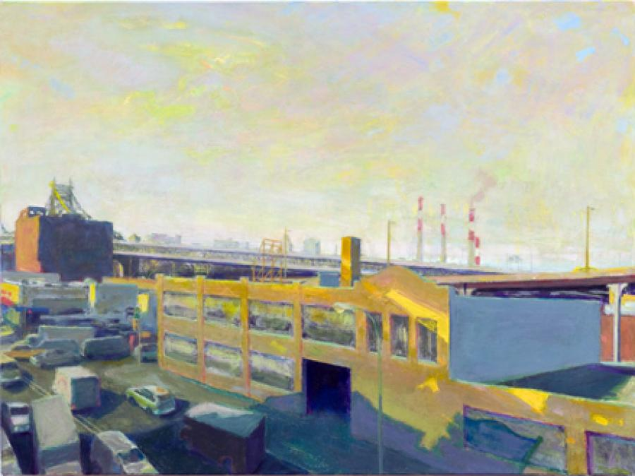 Bridge Late Afternoon. Bridge Late Afternoon <br />oil on linen:24`x32`<br /><br />Reach the artist at<br />718-482-9980<br />or<br />violetbaxter@aol.com<br />or<br />43-01 21st Street, Studio 335,<br />Long Island City, N.Y. 11101<br /><br />member: New York Artists Equity