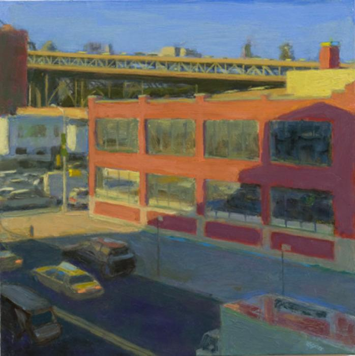 Red Building in Shadow. oil on panel:12`x12`<br /><br />Reach the artist at<br />718-482-9980<br />or<br />violetbaxter@aol.com<br />or<br />43-01 21st Street, Studio 335,<br />Long Island City, N.Y. 11101<br /><br />member: New York Artists Equity