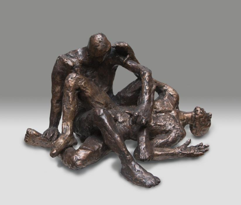 Castration of Noah. Castration of Noah<br />bronze,<br />6.5highx11x9inches<br /><br /><br />lyndacaspe@yahoo.com<br /><br />www.bowerygallery.com