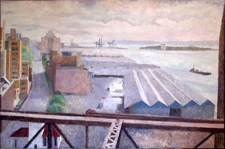 Brooklyn Piers. Brooklyn Piers<br />oil on canvas: 36` x 54`<br /><br />plc0000@hotmail.com<br />212-566-5155<br /><br />Peter Colquhoun: www.petercolquhoun.com