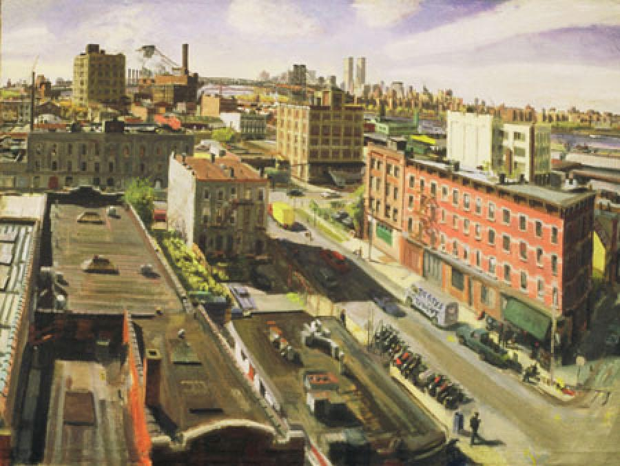 View From North Williamsburg oil on linen	29x39.