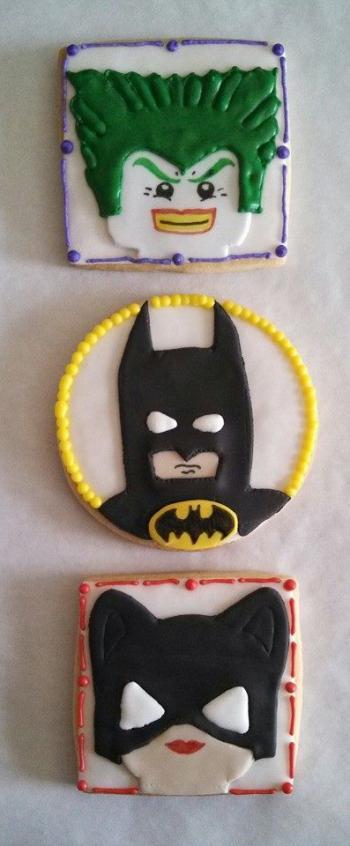 Custom Lego Character Cookies