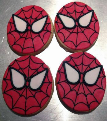 Spider-Man Inspired Custom Cookies