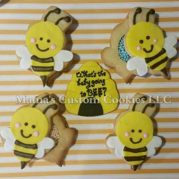 Custom What will it Bee Cookies