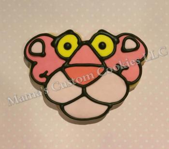 Pink Panther inspired cookies