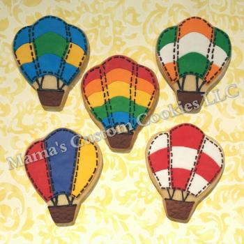 Custom Hot Air Balloon Cookies