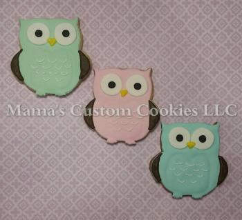 Custom Owl Cookies
