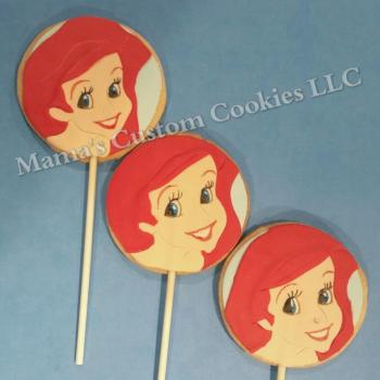 Custom Ariel inspired cookies