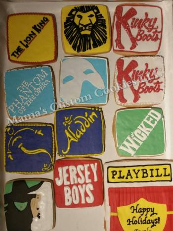 Custom Broadway Theater Inspired Cookies