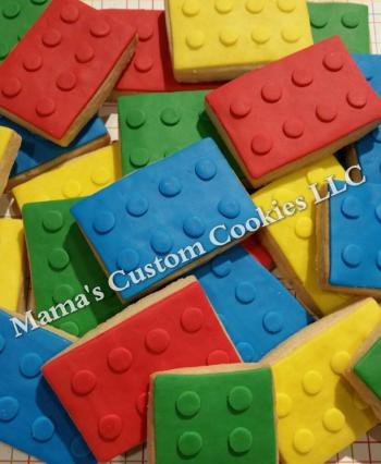 Custom Lego Inspired Cookies