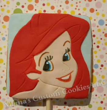 Ariel inspired character cookies