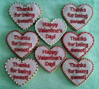 Custom Valentine's Cookies