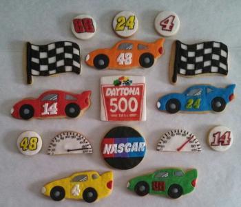 Custom Daytona Inspired Cookies
