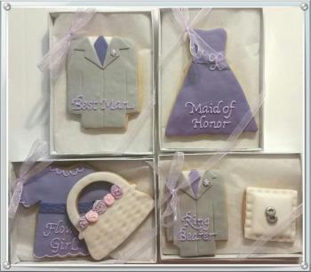 Custom Bridal Party Cookies