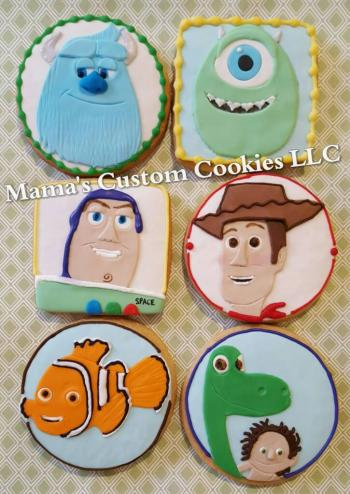 Hand crafter inspired character cookies