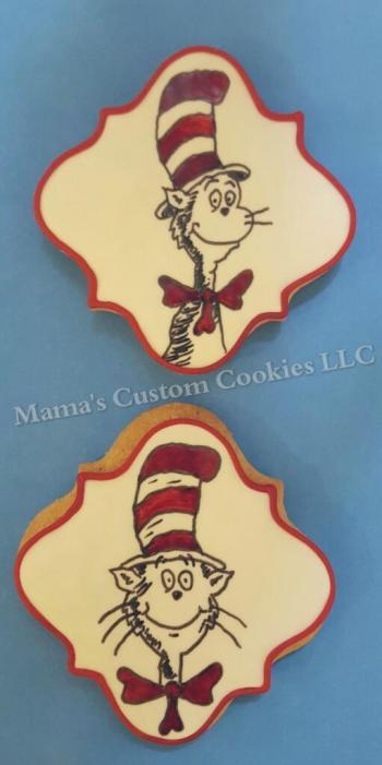 Dr. Seuss inspired cookies