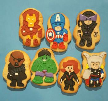 Marvel Character hand crafted inspired cookies