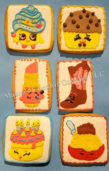 Custom Shopkins inspired cookies