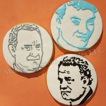 Tom Hanks inspired hand decorated cookies