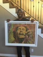 OKC Thunder, Ronnie Price with his piece of wizardhandsart