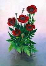 Red Poppies I - Marilyn Moskowitz