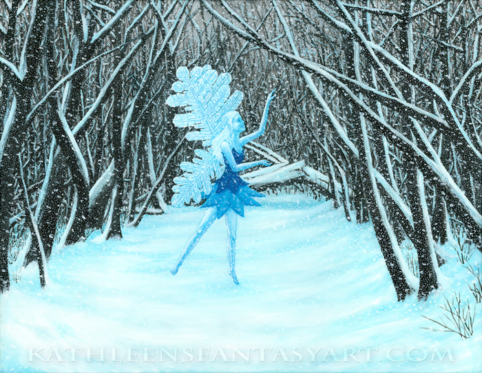 Large Refrigerator Magnet `Winter Dance`
