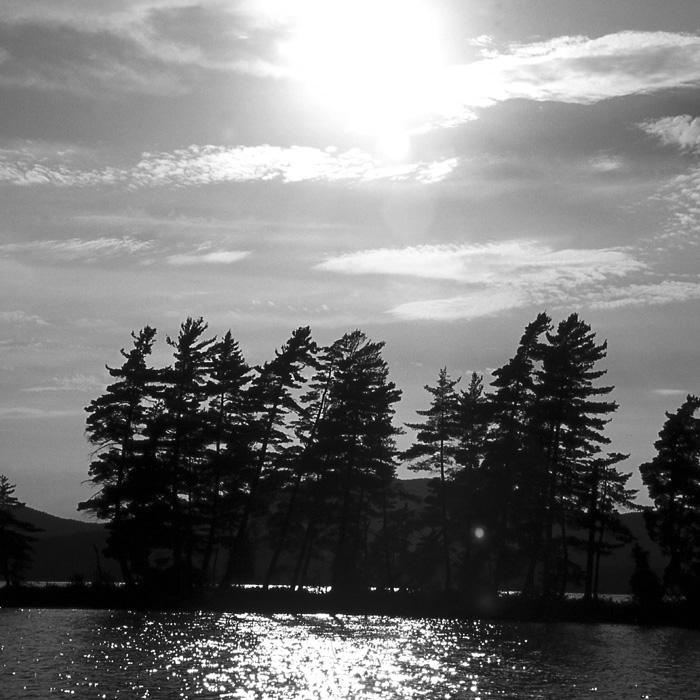 Secluded Island (B&W).