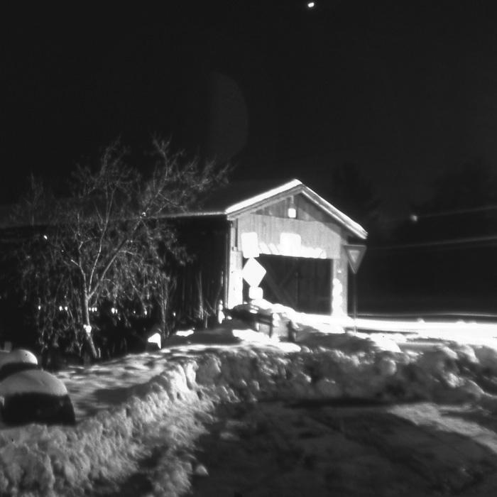 Winter Night (B&W).
