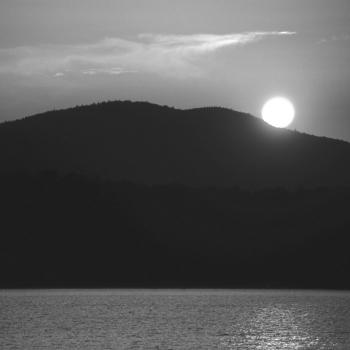 Sunset Mountain (B&W) by Armand Vanderstigchel