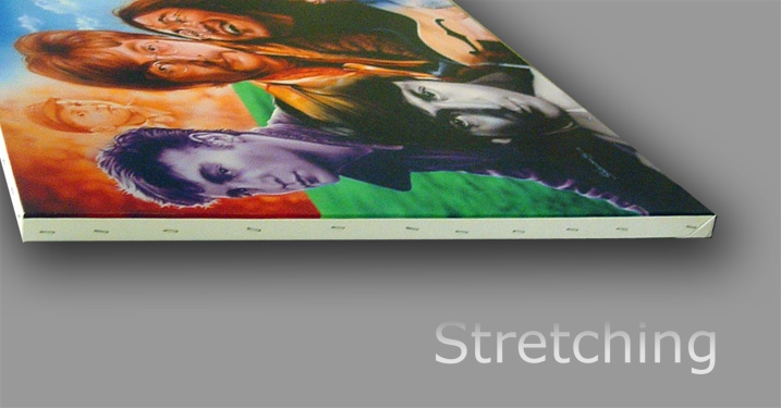 Professionally stretched your print will have a classic look
