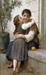 A Little Coaxing - William Adolphe Bouguereau