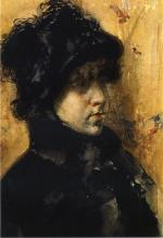 A Portrait Study - William Merritt Chase