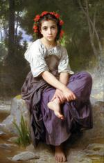 At The Edge Of The Brook - William Adolphe Bouguereau